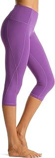 Rocorose Women's Yoga Pants High Waist Power Flex Pockets Workout Running Fitness Leggings