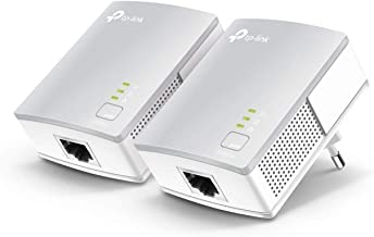 TP-Link TL-PA4010KIT - Adaptadores por Línea Eléctrica (AV 600 Mbps, PLC, Extensor, Repetidores, Amplificador, 2 Puertos, Películas, TV Plug & Play, compatible)