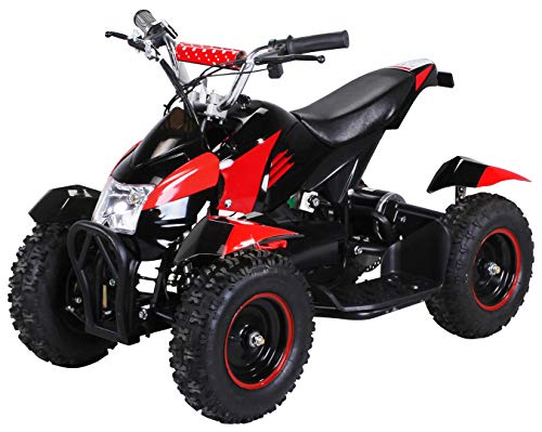 Actionbikes Motors Mini Kinder Elektro Quad ATV Cobra 800 Watt 36 V Pocket Quad - Original Saftey Touch - Kinder E Bike (Schwarz/Rot)