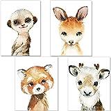 artpin® 4er Set Poster Kinderzimmer - A4 Bilder Babyzimmer - Deko Mädchen Junge (P52)