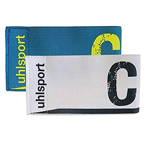 uhlsport 1006749020001 Brazalete de Capitán, Unisex Adulto, Multicolor (Cyan/Blanco), Talla Única