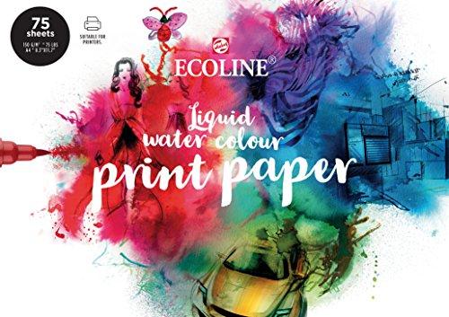 Ecoline Print Papier DIN A4, 75 lose Blätter, Druckpapier, Zeichenpapier, 150 g/m²