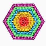 Pop it Fidget Toys 6 unids/Set triángulo Push Bubble Toy Stress Reliever Anti ansiedad Divertidos Juguetes sensoriales de Silicona para niños autis