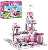 Filles Château Ensembles de Construction Rose Palais Briques Princesse...