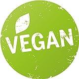 Finest-Folia 500x Produkt Aufkleber Bio, Vegan, Glutenfrei, Laktosefrei, Vegetarisch, (R002 Vegan)