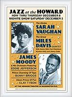 ポスター アーティスト不明 サラ ヴォーン/マイルス デイヴィス Jazz at the Howard 額装品 ウッドハイグレードフレーム(ホワイト)