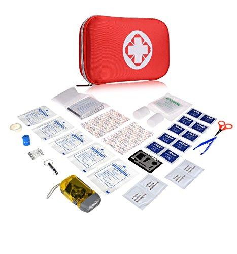 Plusinno Mini Compact Erste-Hilfe-Kit Medizinische Notfalltasche für Heim Reisen Sport Überleben in der Wildnis (53 Pieces)