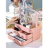 EIU - Organizer per trucchi, cassettiera, per cosmetici, impermeabile, a prova di polvere, rotazione bilaterale di 180°