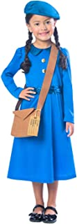 Girls WW2 WW1 Country Evacuee Historical World Book Day Week School Play Fancy Dress Costume Outfit