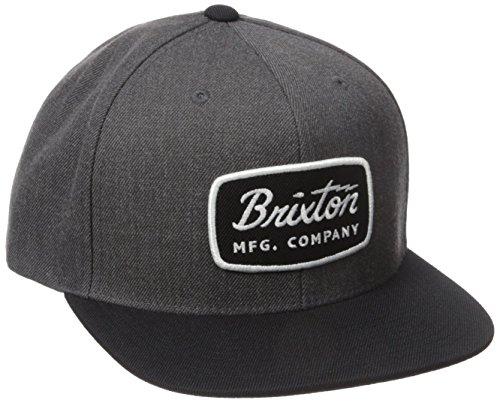 BRIXTON Cap Jolt Snapback, Charcoal Heather/Black, One Size, BRIMCAPJOL