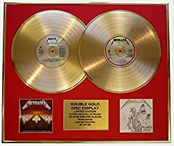 EC Metallica/Zweifache Goldene Schallplatte Display/Limitierte Edition/COA/Master of Puppets & Justice for All