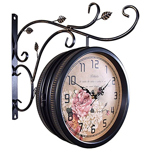 relojes de pared estacion de tren de la marca OUUUKL
