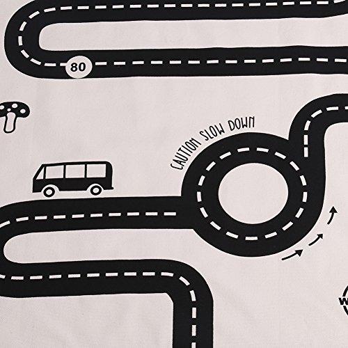 カーペット キッズラグ プレイマット 道路柄ラグマット ロードマップ 丸洗い可能 滑り止め加工 180x70cm