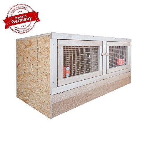 Kaninchenstall 2er - 120 x 60 - mit Bodenrost