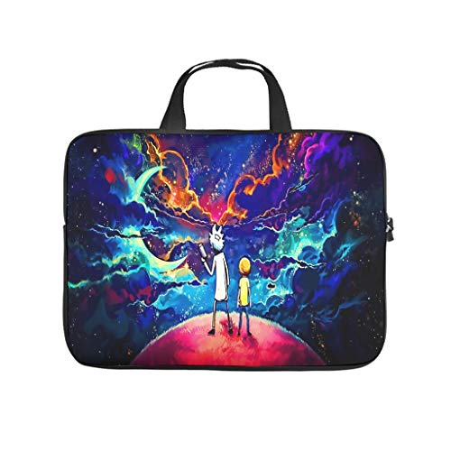 Generic Branded Rick and Morty Planet Laptop Bag Durable Water Resistant Lightweight Multi-Color 10-17 Zoll Design for The Business Professional Travel Commuter White 13inch