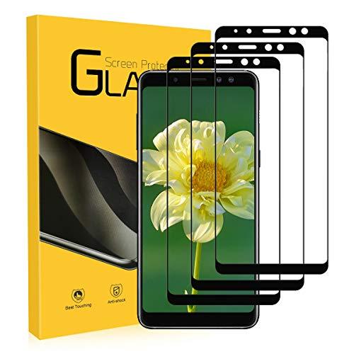 Schutzfolie für Galaxy A8 2018 Panzerglas, [3 Stück] UTEAMY Galaxy A8 Panzerglas [3D Curved] [Ultra-klar] [9H Härte] [Kratzfest] Displayschutzfolie für Samsung Galaxy A8 2018 Hartglas