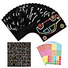 Xinzistar 20 Sheets Dotty Sticker Art, Scratch Art Notes for Kids, Coloured Dot Stickers, Dotty Art Picture Decoration Stickers, Arts and Crafts, DIY Art for Kids to Decorate
