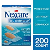 Nexcare Waterproof Bandages, Family Pack, Clear, 200 Bandages,...