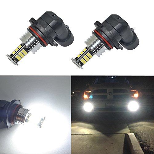 Alla Lighting Super Bright 9006 LED Fog Lights Bulbs 2000 Lumens 3020 30-SMD HB4 Replacement for Cars,Trucks, 6000K Xenon White
