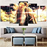 Canvas Paintings 5 Pieces Animation Sword Art Online Wall Art Prints HD Poster Hotel Modular Living Room Home Decor (12x16 12x24 12x32inches,Unframed)