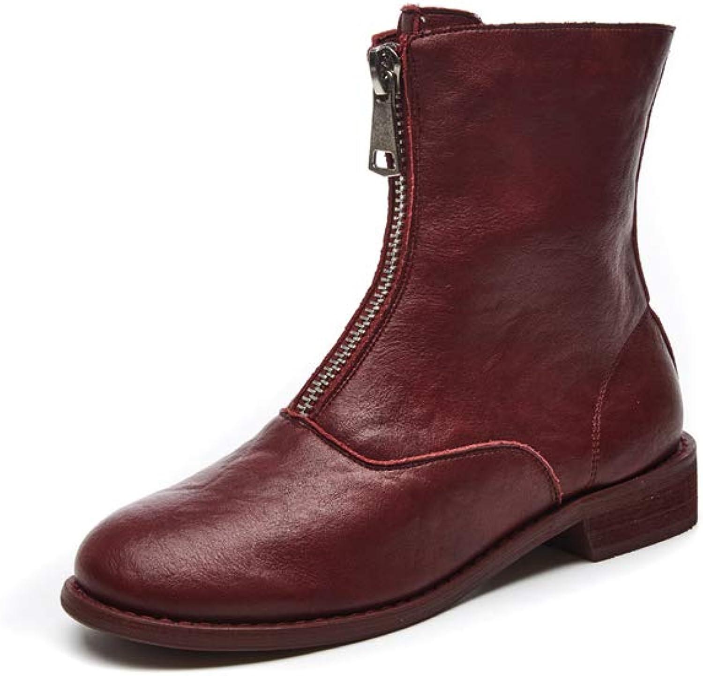 Believed Martin Boots Women Retro Handmade Ankle Boots Women shoes Flat