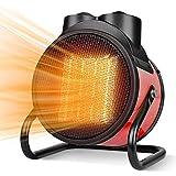 Massage-AED Calentador De Espacio Portátil, 3 Modos, Termostato Y Protección contra Sobrecalentamiento, Rotación De Inclinación De 90°, Calentadores para Invernadero Interior