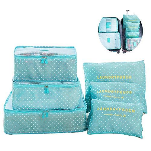 Switty 6pcs viaje bolsas de almacenamiento de ropa que...