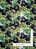 Gorilla Jungle Ape Monkey Animal Cotton...