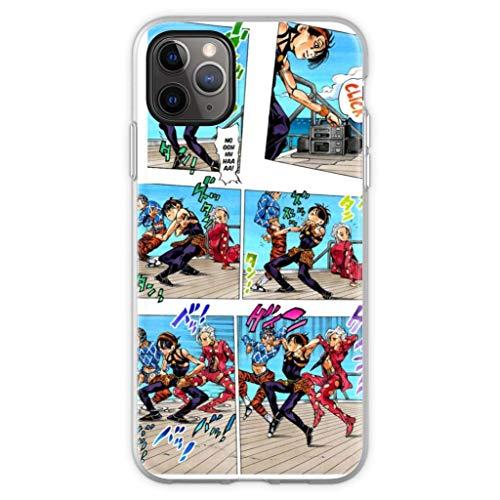 Gladiour Compatible con iPhone 11 12 Pro Max XR 6/7/SE 2020 Funda Vento Aureo Dance Pure Clear Funda de protección a prueba de golpes