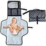 Lanburch Baby Changing Pad Portable Changing Pad for Baby, Diaper Changing Mat with Built-in Pillow, Waterproof Portable Diaper Changing Pad Travel, for Newborn Boys and Girls