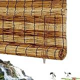 HAIPENG-Bambusrollo Rollo Bambus Raffrollo Sichtschutz Rollos Holzrollo Natürlich Schilf Mit