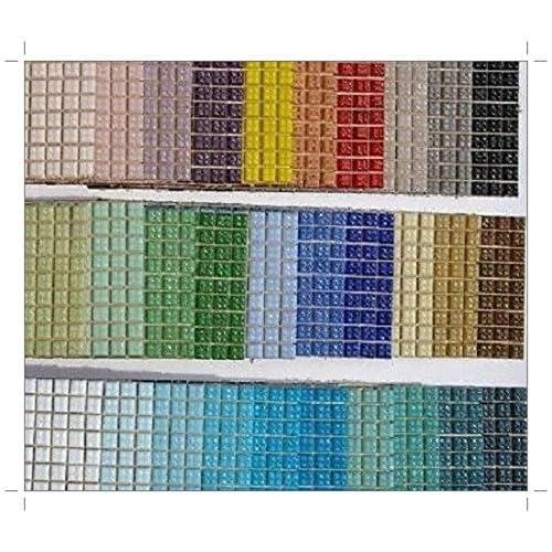 Ottoman Glass Micro Mosaic Tiles Pine Green 100 Pack