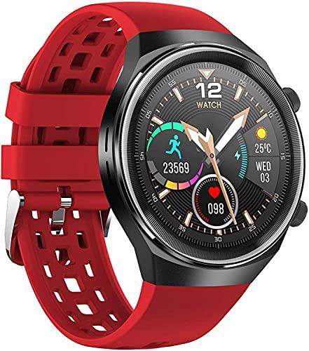 Bluetooth Call Smart Watch Calorie Counter Pedómetro Deporte Fitness Tracker con monitor de ritmo cardíaco Monitor de la presión arterial Control de música Mensaje Mensaje recordatorio Sedente Reloj d
