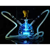 Caige Manguera de Hookah Shisha Juego Completo con Control Remoto de luz LED para una Mejor Shisha Fumar Pipa de Agua, Manguera de Silicona 2
