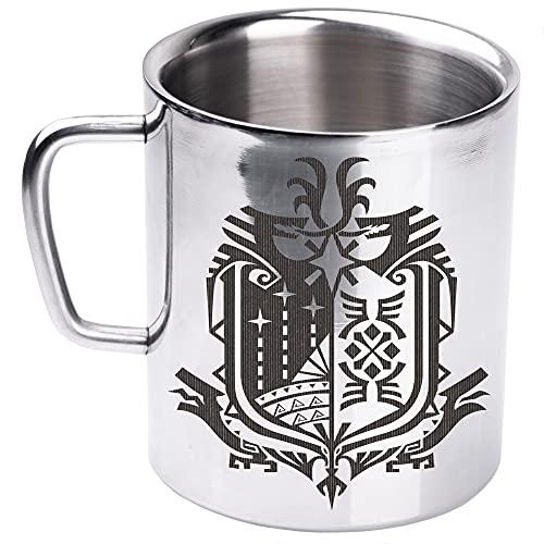 Monster Hunter World Travel Metal Mug, MH Camping Thermo Mug, Coffee Cup