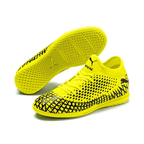 Puma FUTURE 4.4 IT Jr, Unisex-Kinder Fußballschuhe, Gelb (Yellow Alert-Puma Black 03), 37.5 EU (4.5 UK)