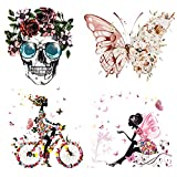 Design Colorful Butterfly Skull and Beautiful...
