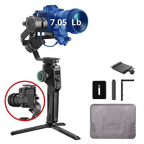 MOZA Aircross 2 Ricondizionato stabilizzatore cardanico a 3 assi per fotocamere compatte, adatto per 4 K BMPCC, Canon EOS R, Sony a Series, carico 3,2 kg, peso cardanico 950 g (Ricondizionato)