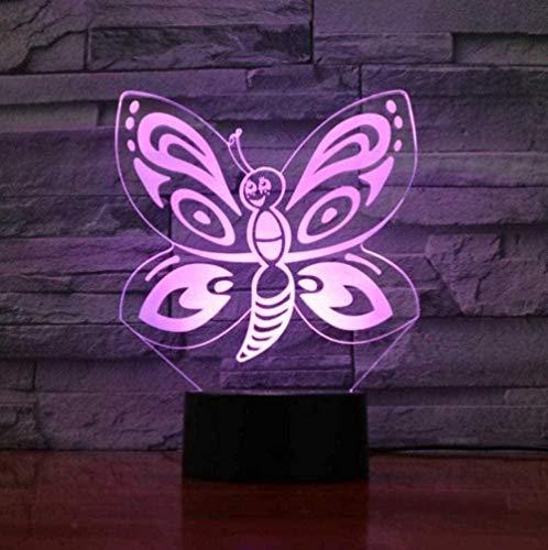 Baby Spielzeug 3D LED 16 colores cambiar la luz de la noche USB mariposa modelado insecto lámpara de mesa decoración del hogar iluminación para niños