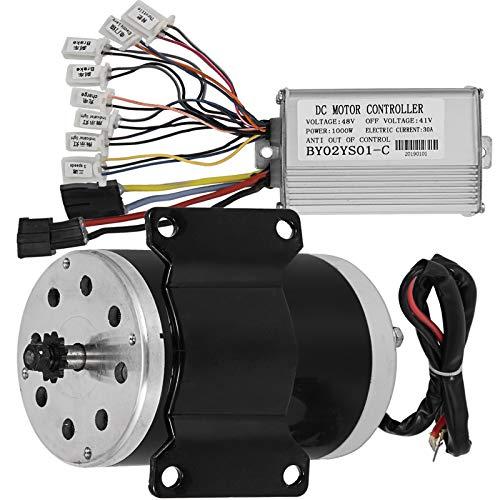 Mophorn Elektromotor 48V 1000W DC Motor 3000-3360 U/min Nenndrehzahl Brushless Motor mit Brushless Controller Geeignet für E-Bikes Elektroroller (48V 1000W mit Controller)