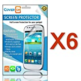 CoverON 6 Pack Transparent LCD Clear Screen Protector Shield for LG Optimus Dynamic II