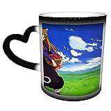 haoqianyanbaihuodian Spice And Wolf - Taza de café de cerámica con diseño de anime, color que cambia en el cielo