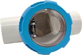 LjzlSxMF Piscina Compruebe la válvula de no Retorno Transparente y Duradera revisar los Accesorios de válvulas para Piscinas Herramienta para el jardín 63MM