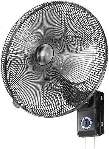 VIVOCC Ventilador de Pared de 18 Pulgadas montado en la Pared de Metal Industrial Ventilador, oscilante, Zona 3-Velocidad for Aplicaciones industriales, comerciales y residenciales