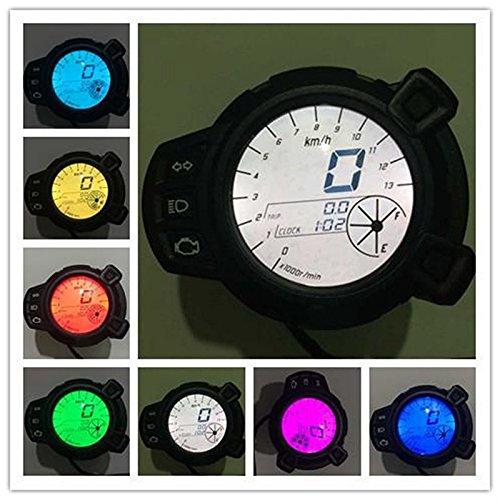BEESCLOVER Tachymètre de Vitesse LCD pour Yamaha BWS125 Colorful B2909 10000 RMP