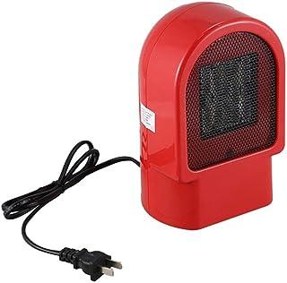 LIBO Calefacción Calentador eléctrico Ventilador Mini Invierno Calentador de Manos PTC Cerámica Calentamiento rápido Estufa Caliente Radiador de Aire Ventilador de sobremesa, Rojo, 500W