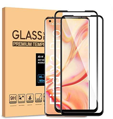 HYMY 2 Pack Schutzfolie für Oppo Find X2 Pro - Full Glue Full Cover Panzerglas Bildschirmschutzfolie Anti-Kratzen, Anti-Scratch, Anti-Bläschen, Anti-Fingerabdruck Film Gehärtetes Glas Schutzfolie