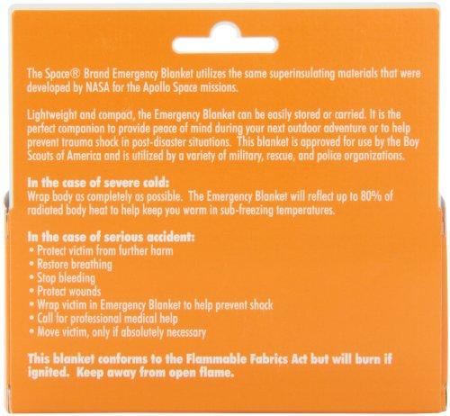 Grabber - The Original Space Brand Emergency Survival Blanket - Gold/Silver 4