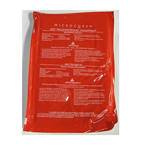 Vesture 7' X 10' Microcore Replacement Hot Red Pack for Microwave Heating - Durable and Stays Hot for Several Hours