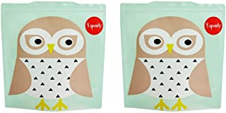 3 Sprouts Sandwich Bag – Reusable and Washable Lunch Storage Bag for Kids